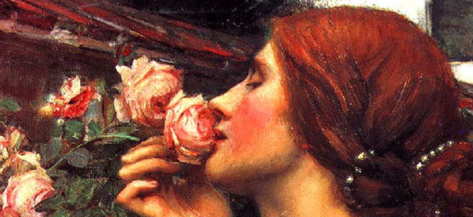 My Sweet Rose - J.W.Waterhouse - La casa sensoriale 4: l'olfatto . animArchitettura